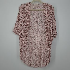 4/$25 Painted Threads Floral Short Sleeve Cover Up